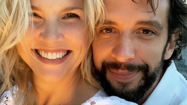 Amanda Kloots and Nick Cordero selfie