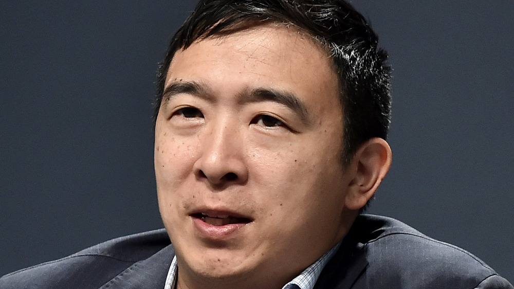 Andrew Yang at an event