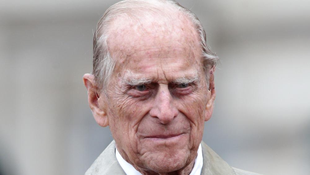 Prince Philip poses