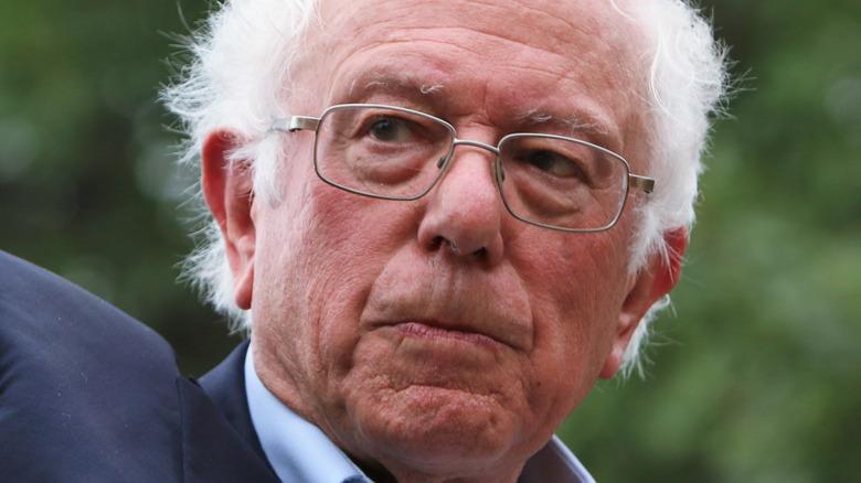 Bernie Sanders posing
