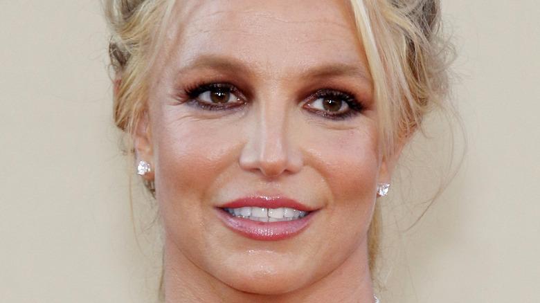 Britney Spears grinning