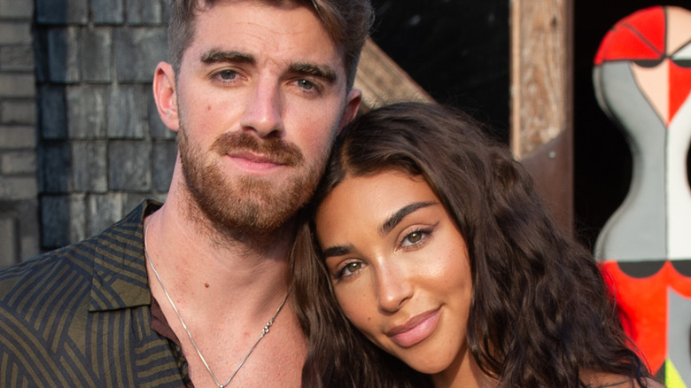 Chantel Jeffries and Drew Taggart at the Hamptons Magazine x The Chainsmokers VIP Dinner in July 2020