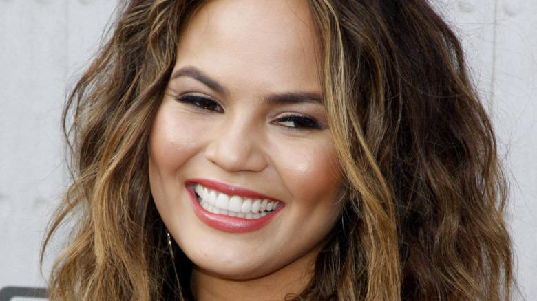 Chrissy Teigen smiling