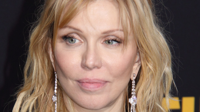 Courtney Love looking to the side
