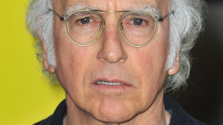 Larry David on the red carpet