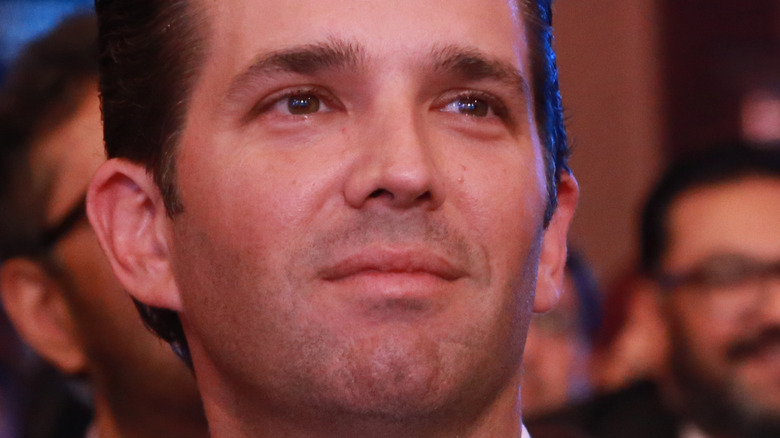 Donald Trump, Jr. looking into the distance