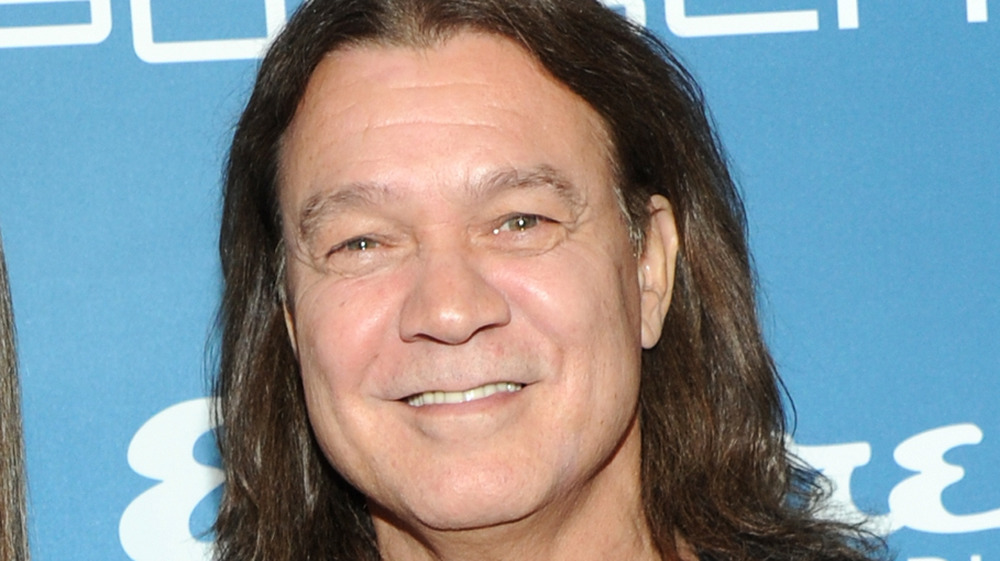 Eddie Van Halen smiles