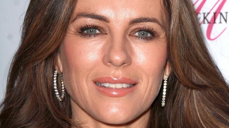 Elizabeth Hurley smiling