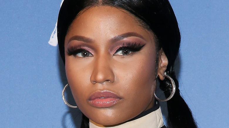Nicki Minaj wearing pigtails