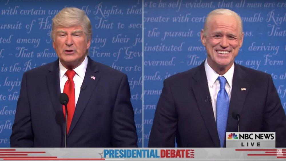 SNL cold open of Alec Baldwin as Donald Trump and Jim Carrey as Joe Biden