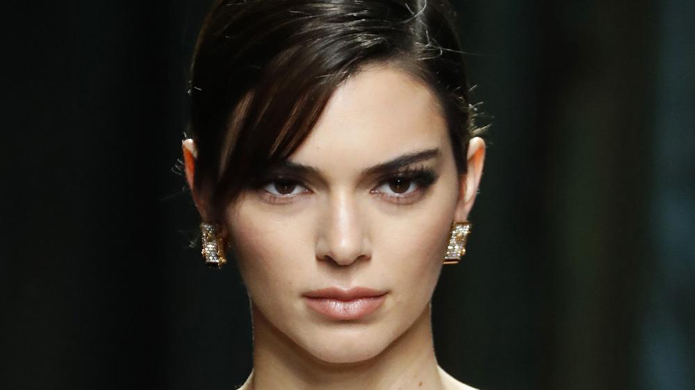 Kendall Jenner modeling runway
