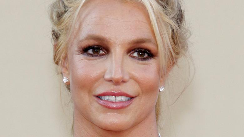 Britney Spears in an updo