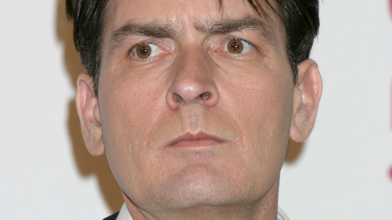 Charlie Sheen on the red carpet