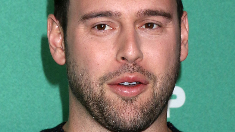 Scooter Braun with a serious expression