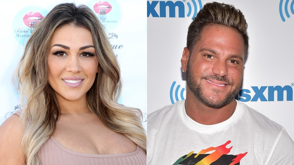 Jen Harley on red carpet, Ronnie Ortiz-Margo on red carpet