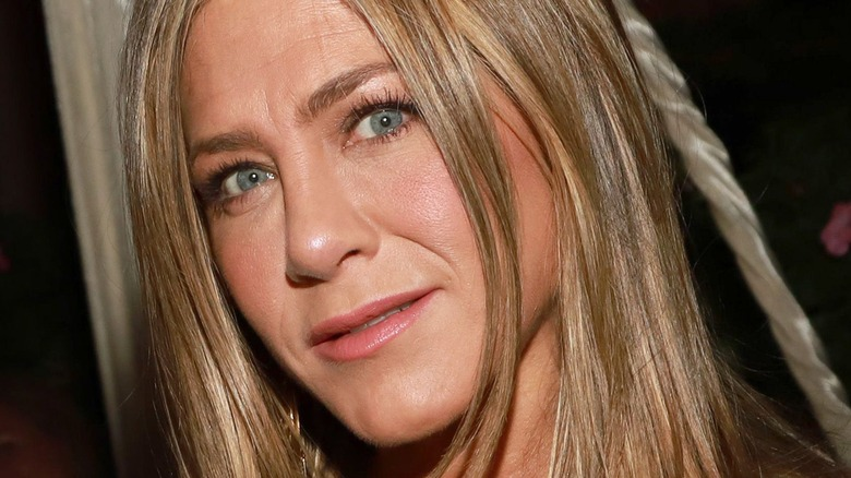 Jennifer Aniston looking at camera with slight smile