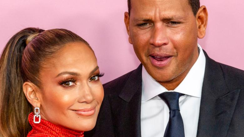 Jennifer Lopez and Alex Rodriguez pose together