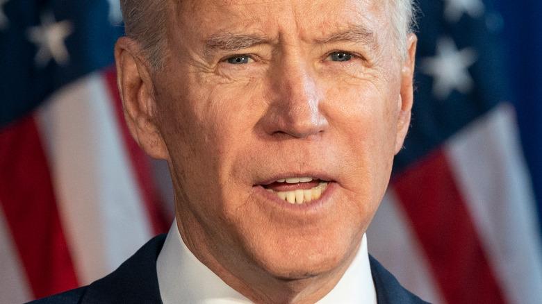 President Joe Biden speaking at an event