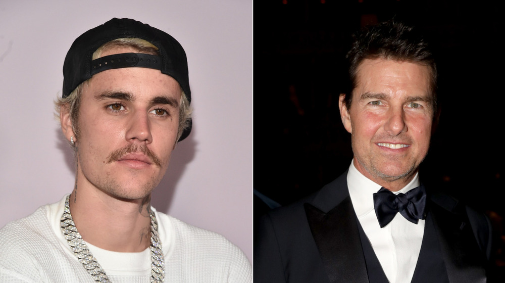 Justin Bieber and Tom Cruise at separate events