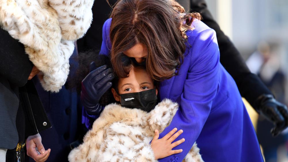 Kamala Harris embracing her grand-niece