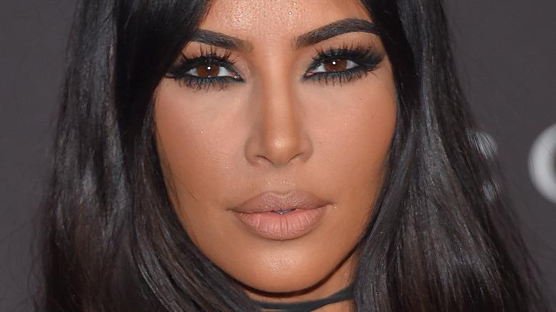 Kim Kardashian not smiling