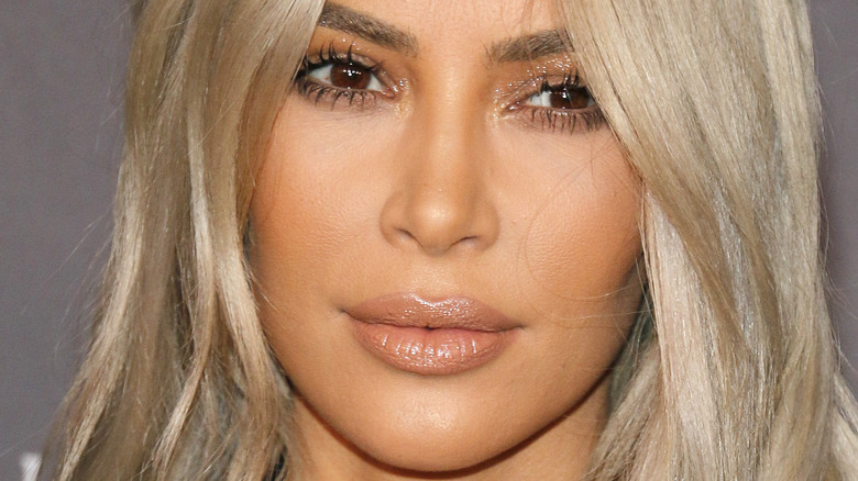 Kim Kardashian with a neutral expression