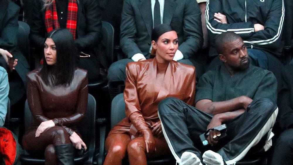 Kourtney Kardashian, Kim Kardashian-West, Kanye West