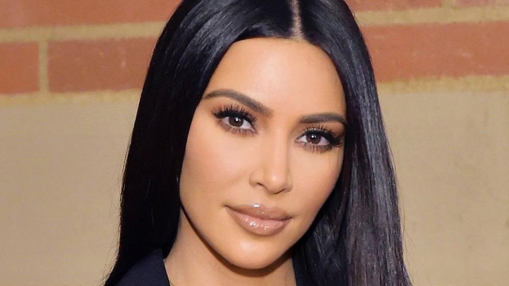 Kim Kardashian posing for a photo