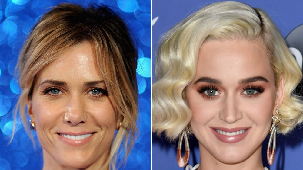 Katy Perry and Kristen Wiig smiling
