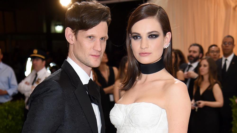 Lily James and Matt Smith