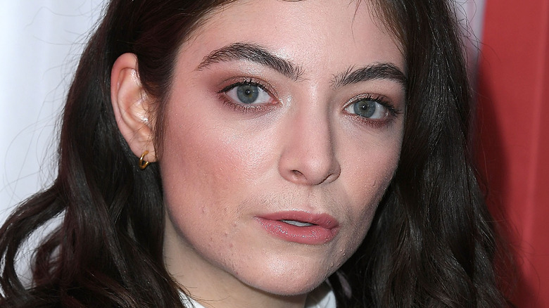 Lorde at the Grammys in 2018