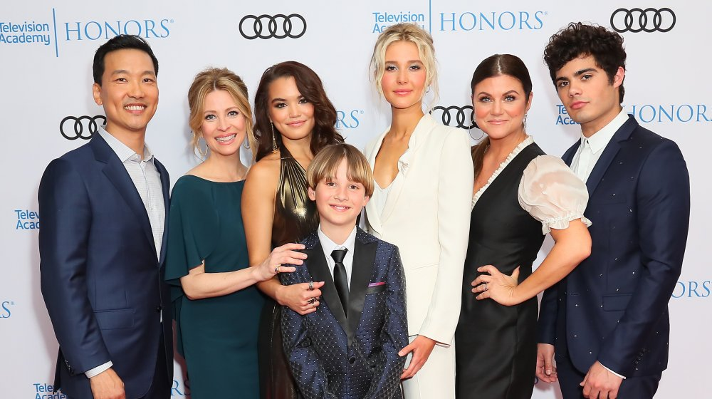 Eddie Shin, Jolie Jenkins, Paris Berele, Finn Carr, Isabel May, Tiffani Thiessen and Emery Kelly attend The 12th Annual Television Academy Honors