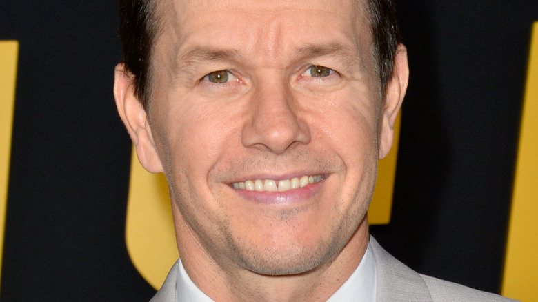 Mark Wahlberg smiling at the premiere of Spencer Confidential