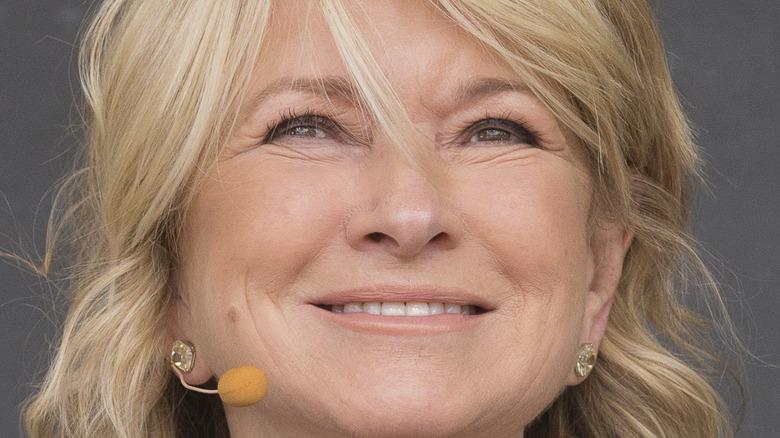 Martha Stewart poses at an event