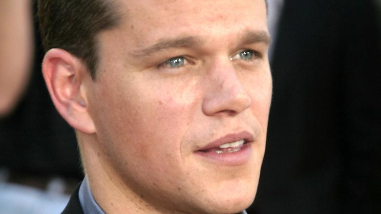 Matt Damon blue eyes red carpet