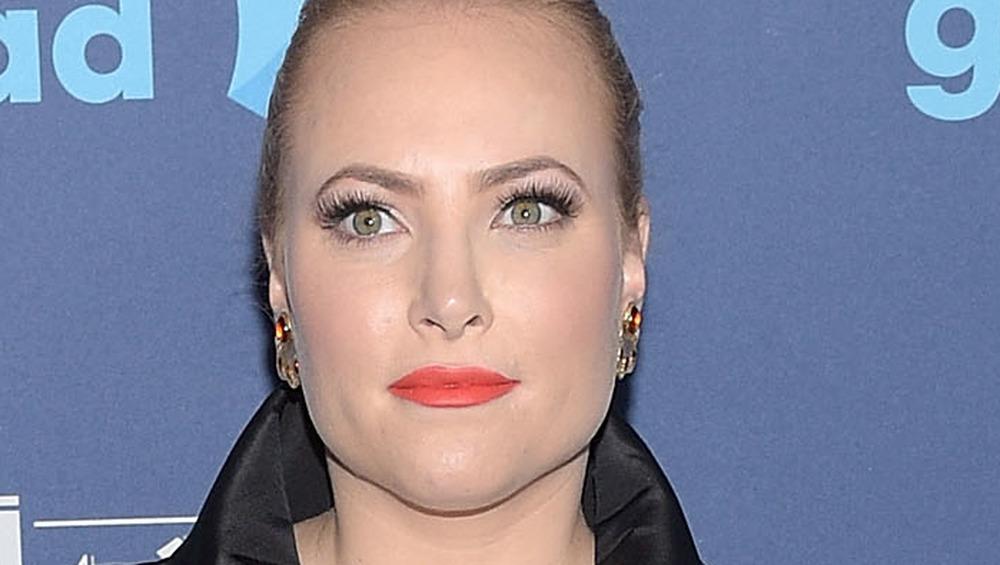Meghan McCain wears bright lipstick