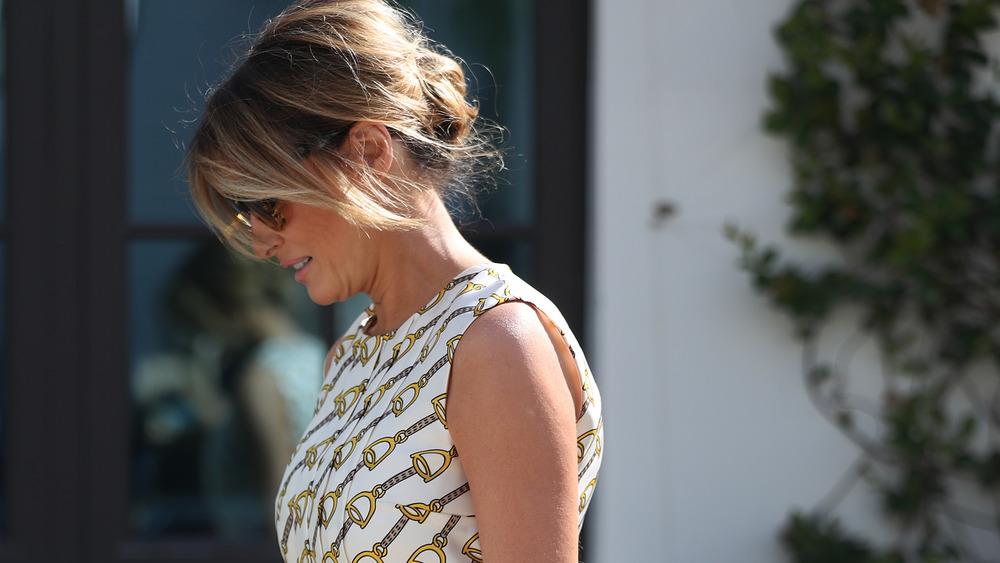 Melania Trump sunglasses looking down