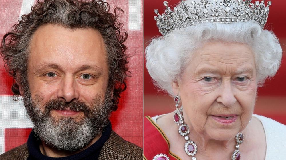 Michael Sheen and Queen Elizabeth II