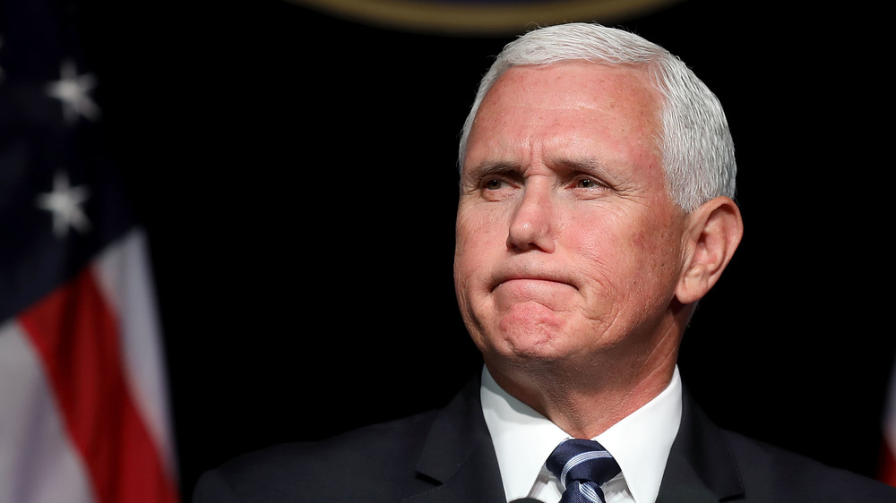 Mike Pence looking serious