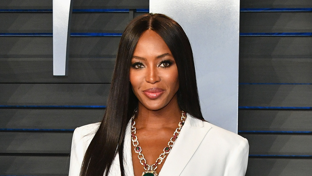 Naomi Campbell on red carpet