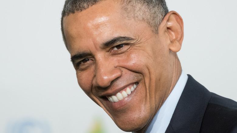 Barack Obama with wide smile