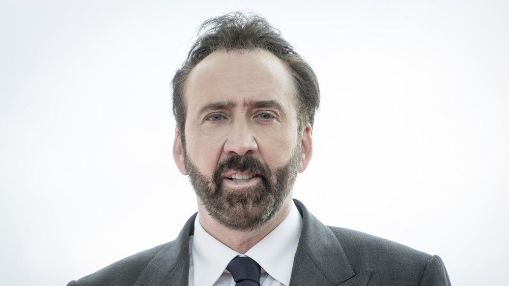Nicolas Cage posing