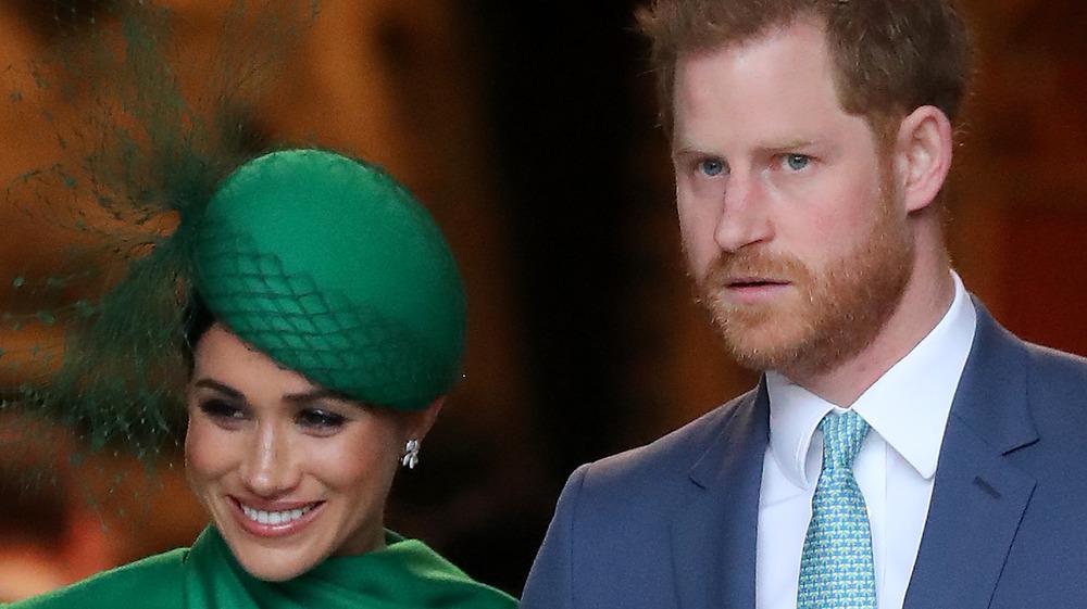 Meghan Markle and Prince Harry posing