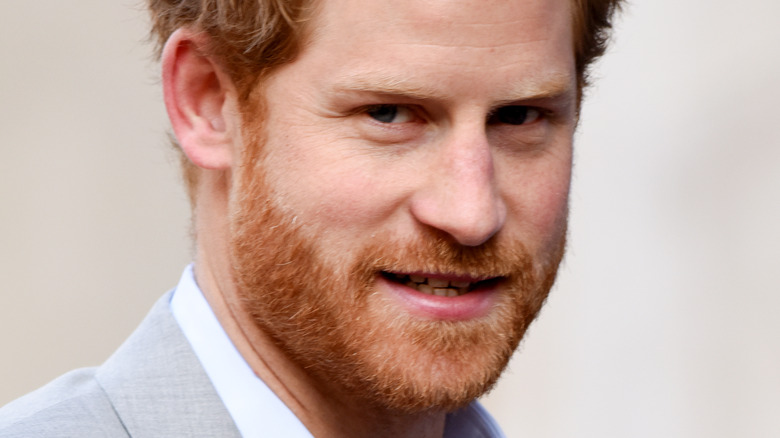 Prince Harry looking at camera with slight smile