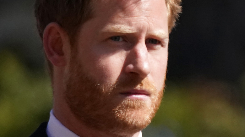 Prince Harry looking concerned