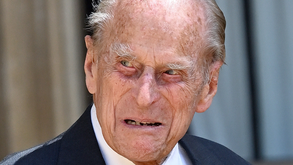 Prince Philip looking to the side