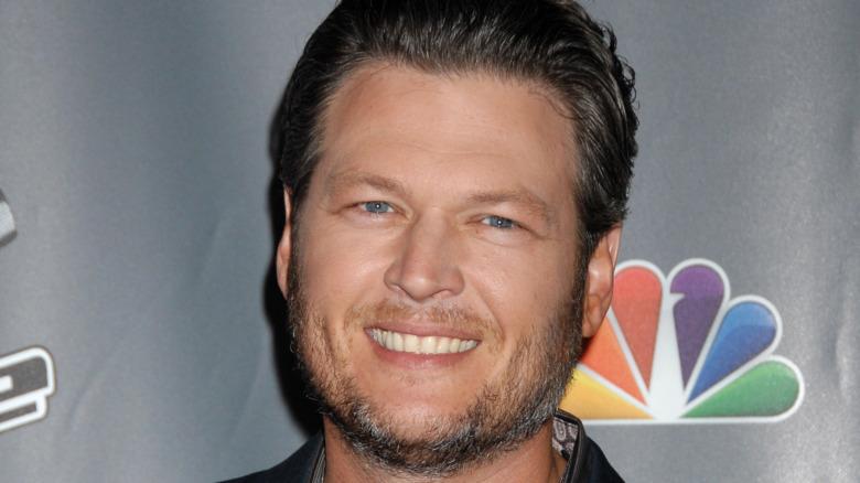 Blake Shelton smiling