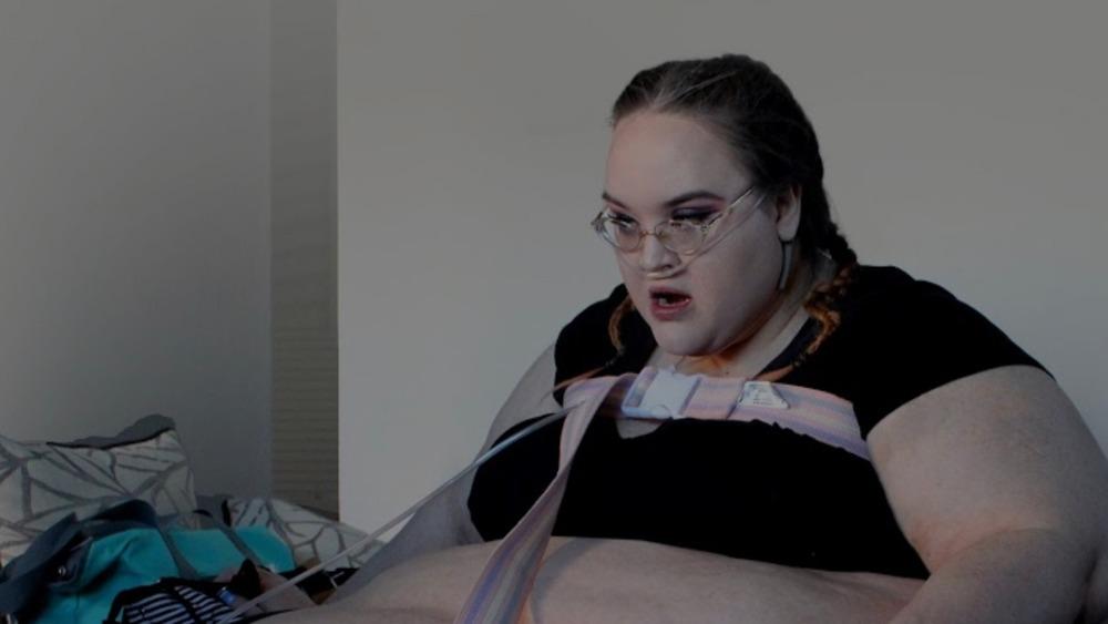 Samantha using oxygen