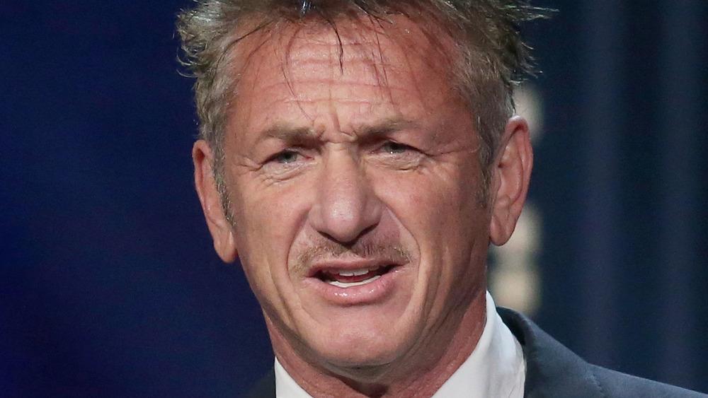 Sean Penn frowning