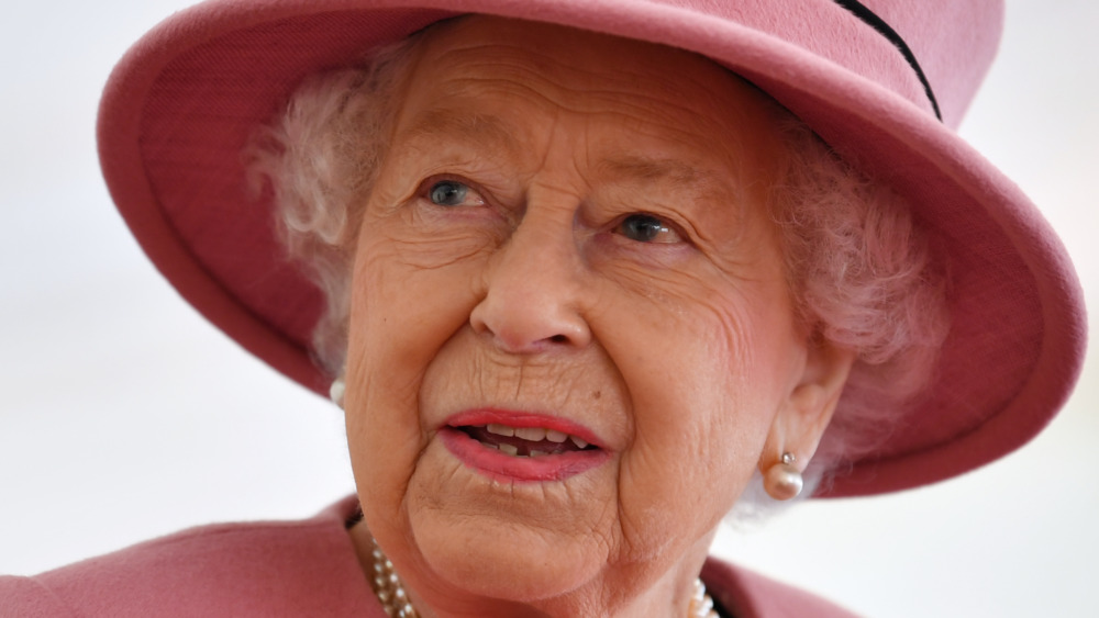 Queen Elizabeth II during a visit to the Defence Science and Technology Laboratory